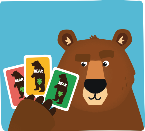 BEAR snacks collectable cards