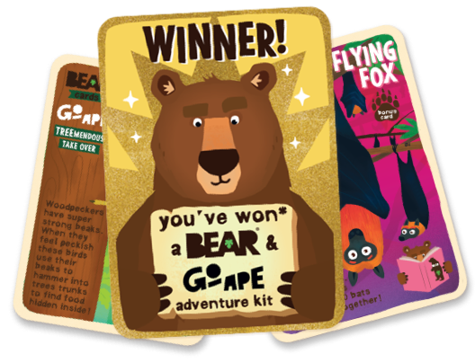 Go Ape Golden Collectable BEAR Card!