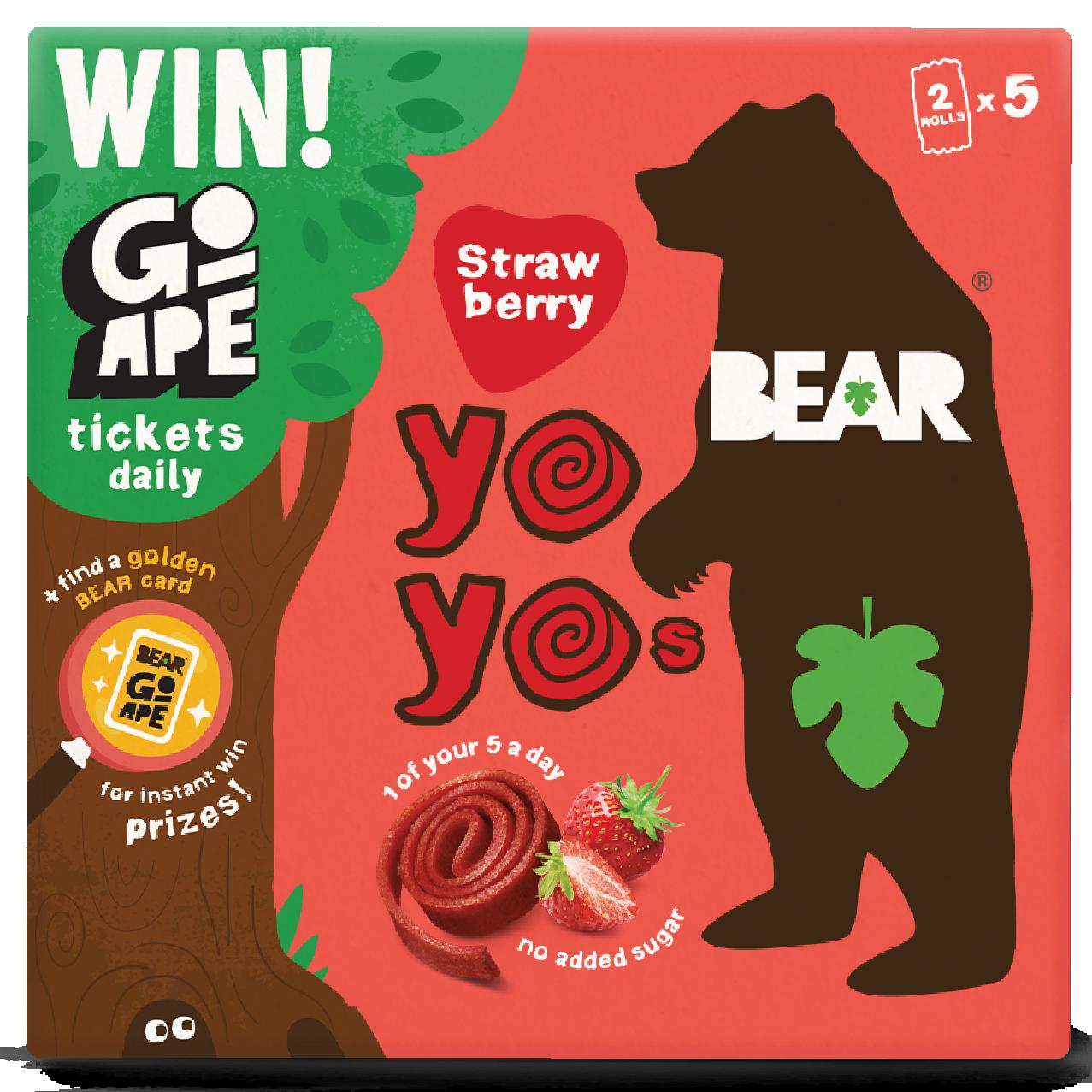 BEAR Multipack Strawberry Flavour Go Ape