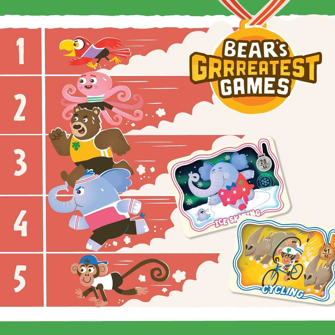 BEAR and the animal athletes are racing towards the finish line, as BEAR's Grrreatest Games is almost complete! 🐻🏅🏆How many cards have you managed to get your paws on? ⁣ ⁣ Don't worry if you haven'...
