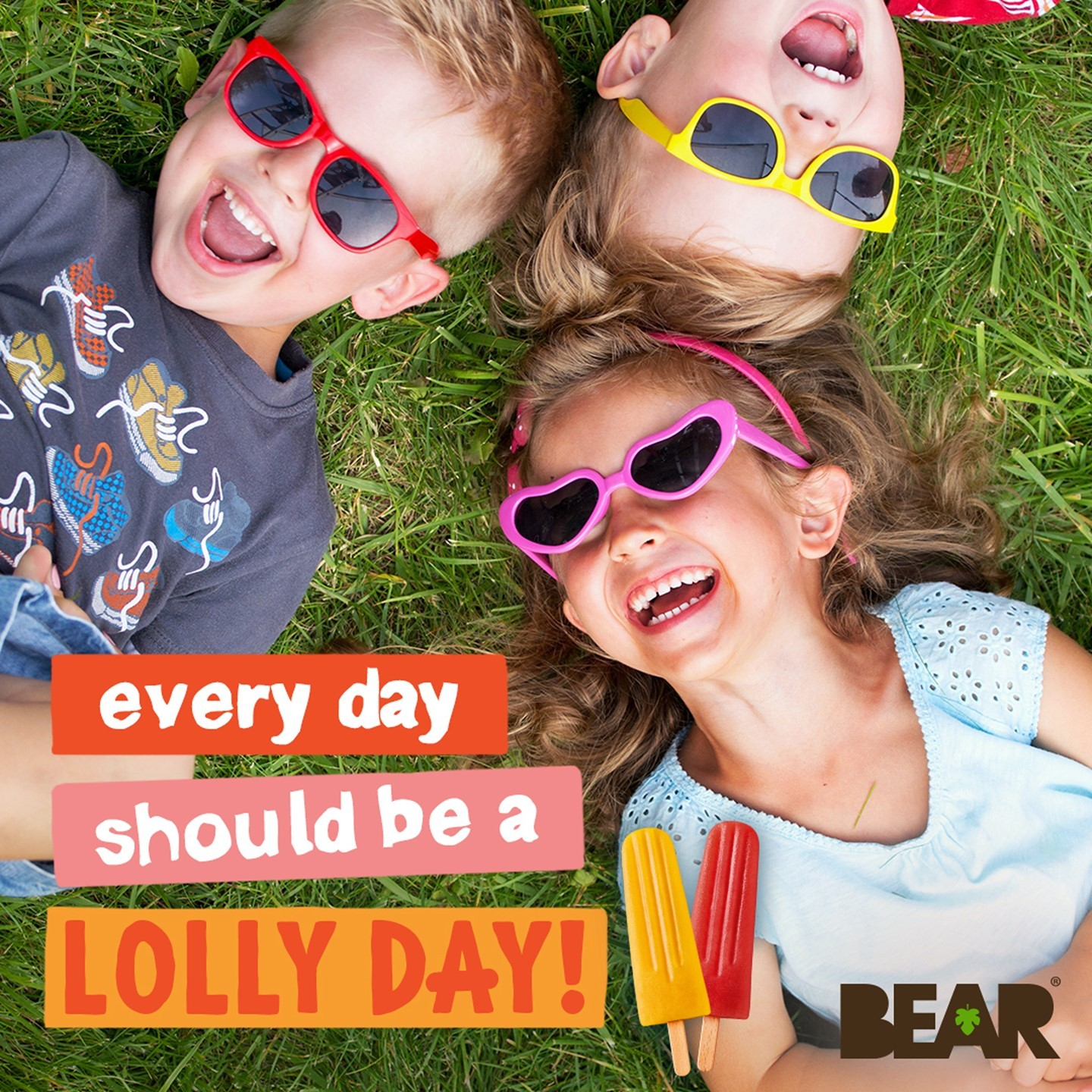 Every day should be a lolly day - especially today! ☀️   Our BEAR lollies are available now in select @waitrose stores. They're 100% natural and made with only 2 ingredients so that every day can b...