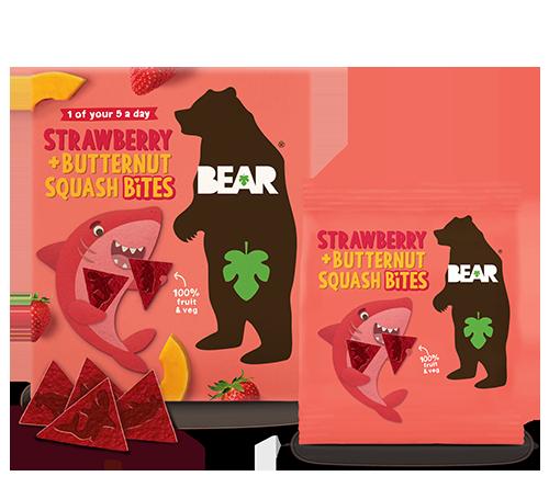 strawberry & butternut squash bites