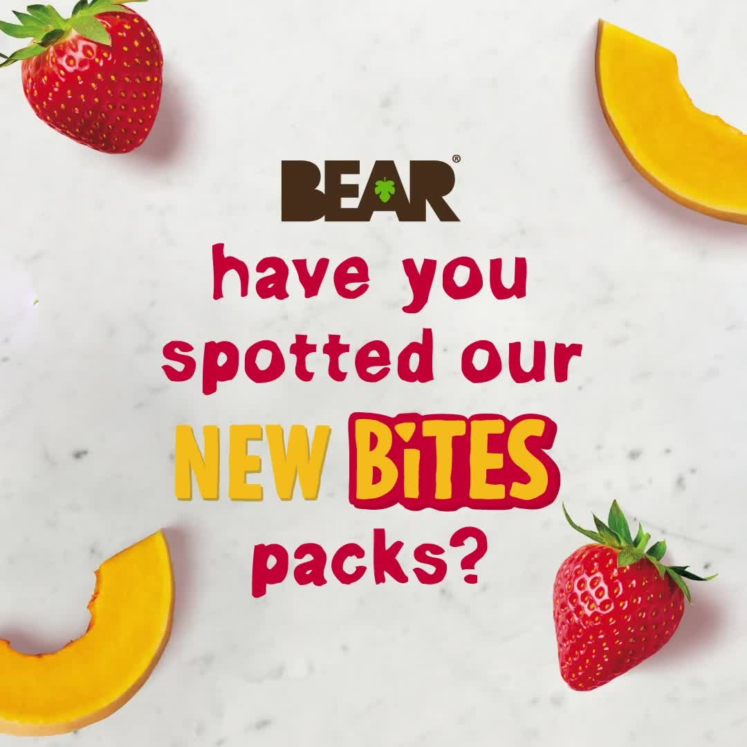 Have you tried our BEAR Bites yet? 🐻 They're 100% fruit and veg, and one of your cubs five a day! Plus there's extra fun on pack for your cubs to learn all about their favourite underwater characte...