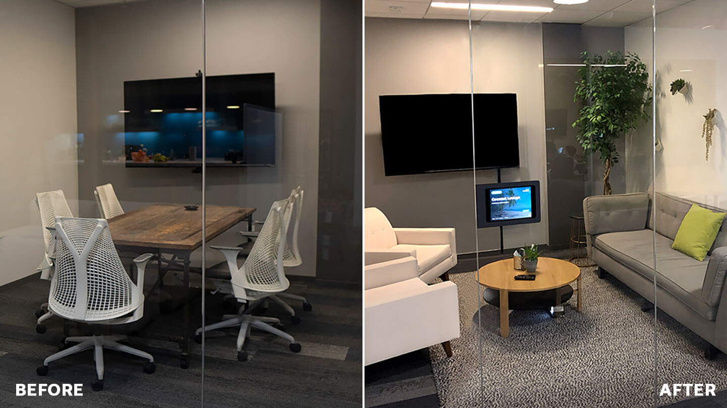 A 5-minute meeting room redesign boosted utilization by 246%