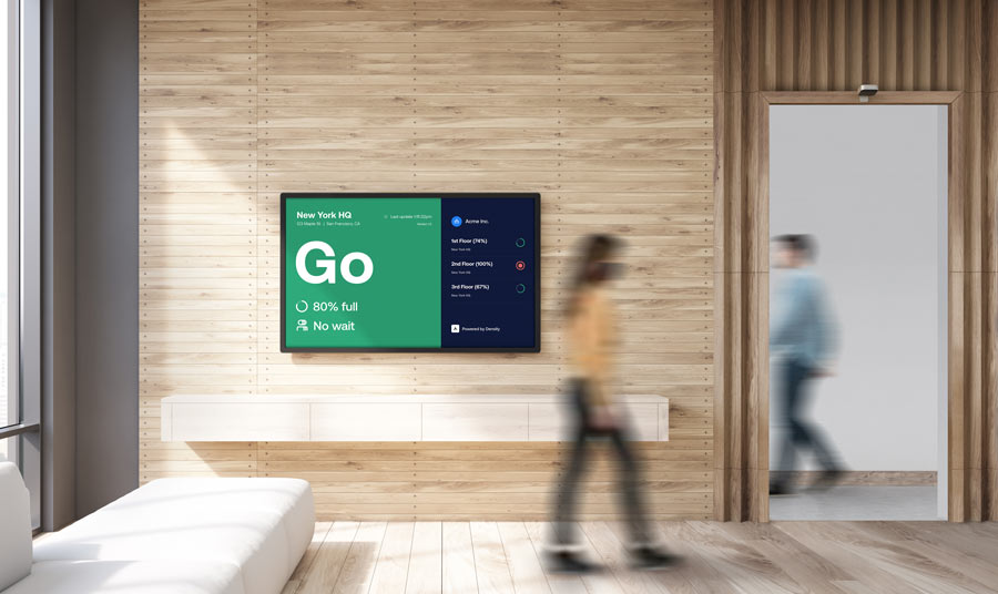 Display real-time occupancy of any space for employees and visitors