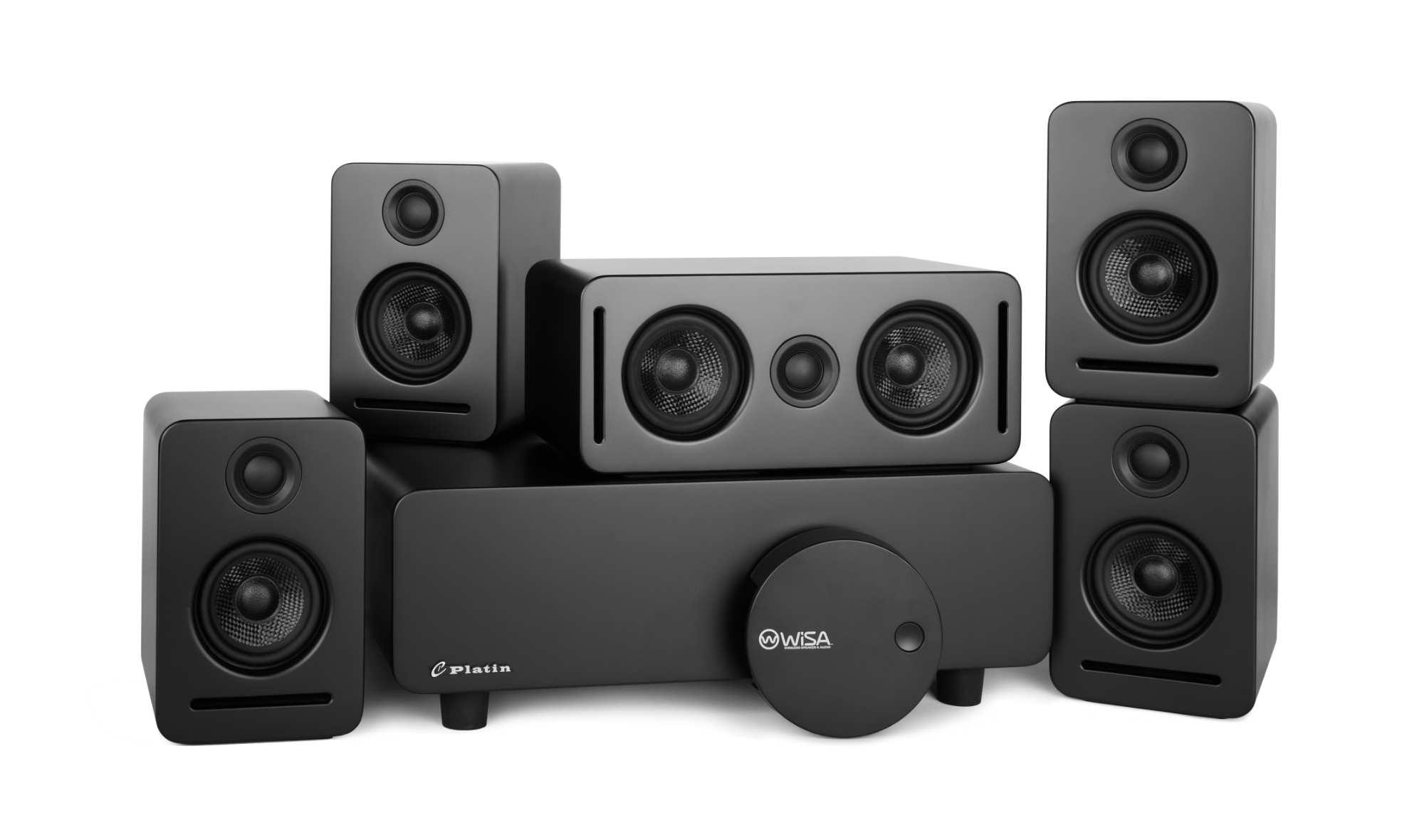 Monaco 5.1 speaker system with WiSA SoundSend Audio transmitter