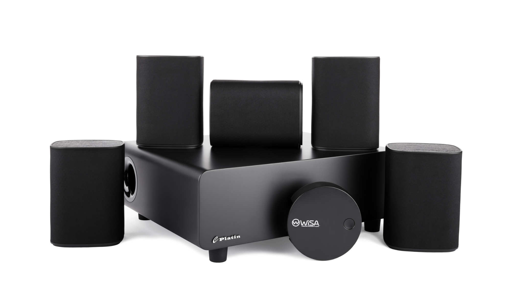 Milan 5.1 speaker systems with WiSA SoundSend Wireless Transmitter