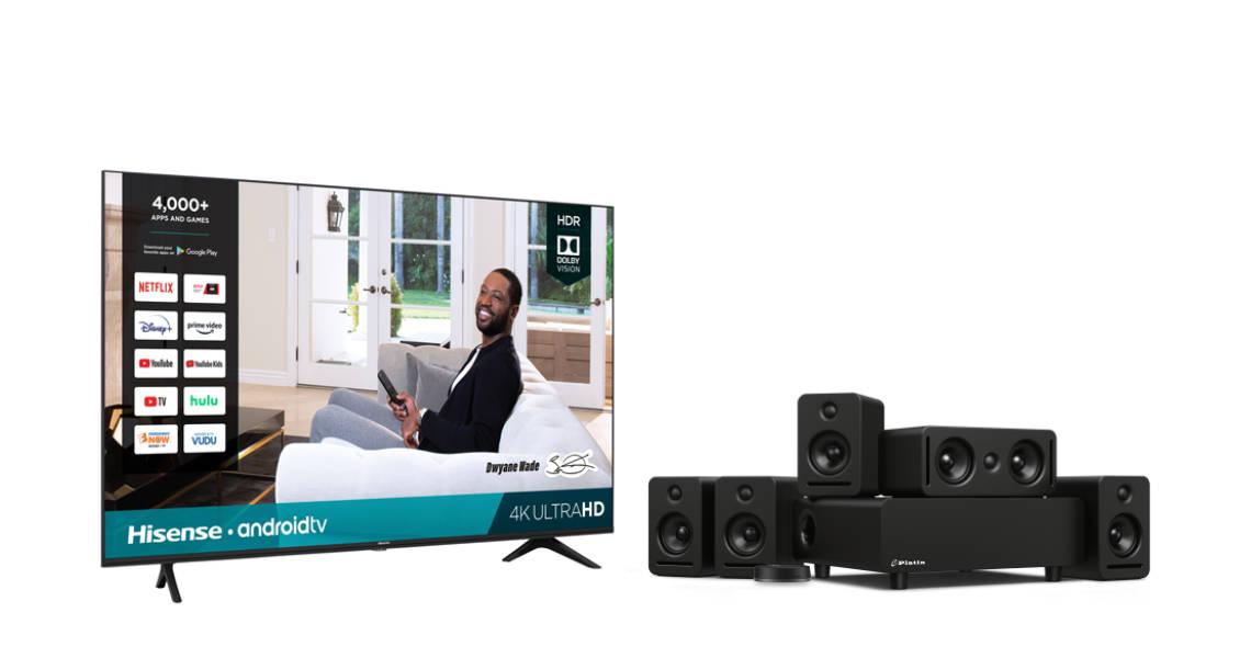 Hisense H65 TV over white background