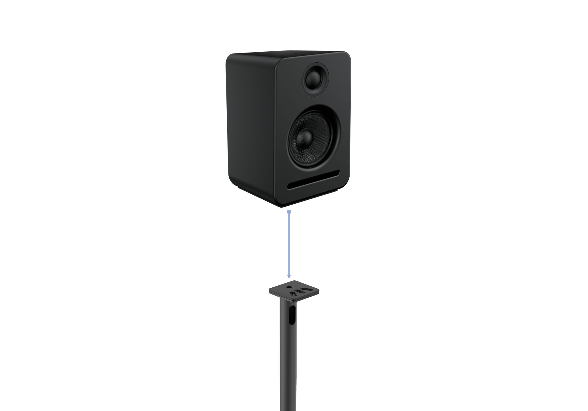 how to mount speaker onto stands