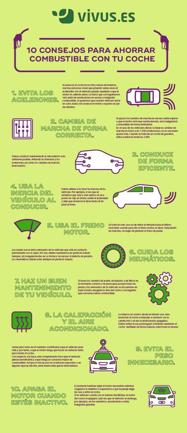 Infografía | Cómo ahorrar combustible en tu coche