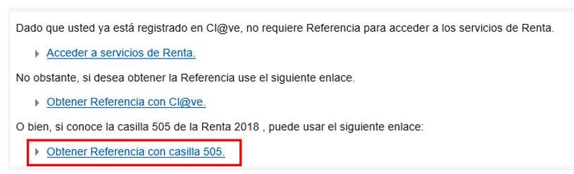 Así podrás acceder a tu Renta con la referencia de la Casilla 505