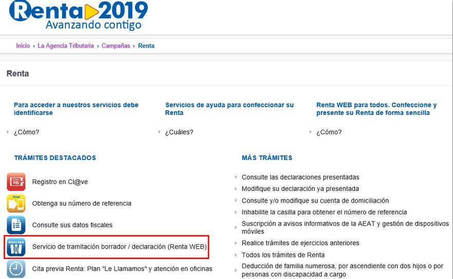 Renta 2019 | Cómo pedir el borrador de la renta a Hacienda | Vivus.es