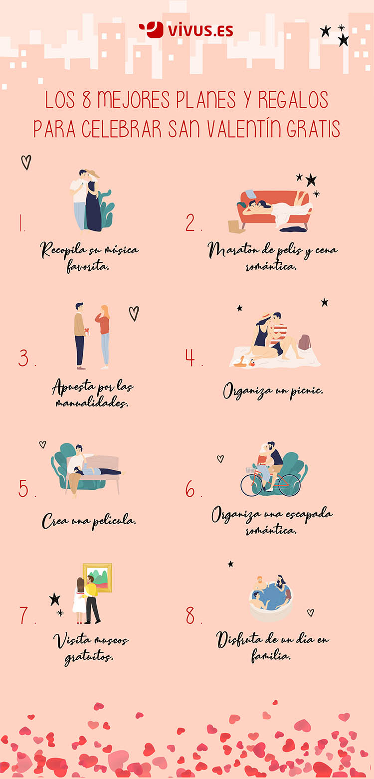 Infografía | 8 planes y regalos para celebrar San Valentín