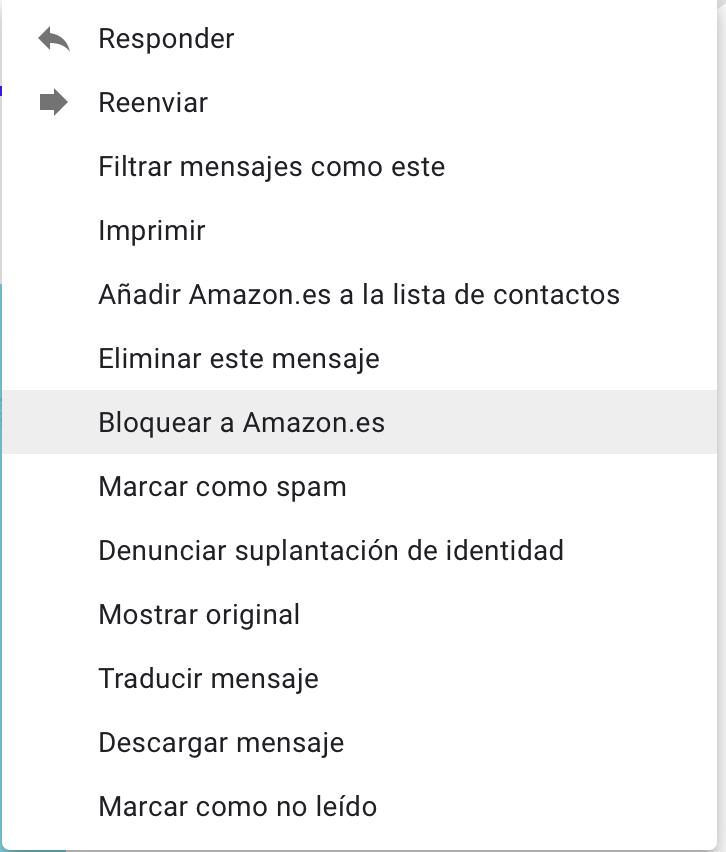 Trucos de gmail: bloquea a remitentes pesados