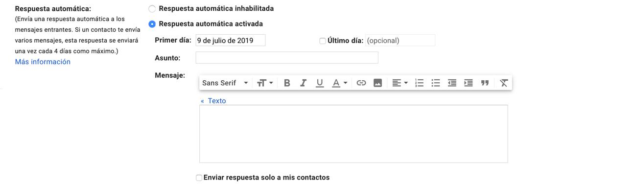 Trucos de gmail: dejar un contestador automático