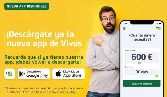 La nueva App de Vivus: ¡descárgatela y entra en el sorteo de una tarjeta regalo de 300€ en Amazon!