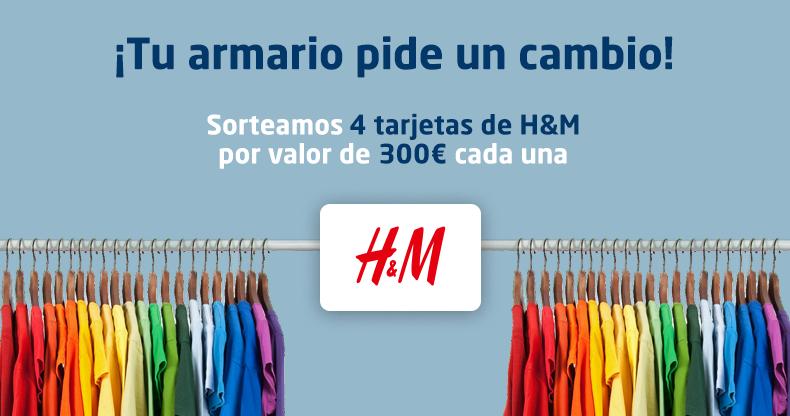 ¡Ha llegado la hora de renovar tu armario! Sorteamos 4 tarjetas de H&M de 300€ cada una