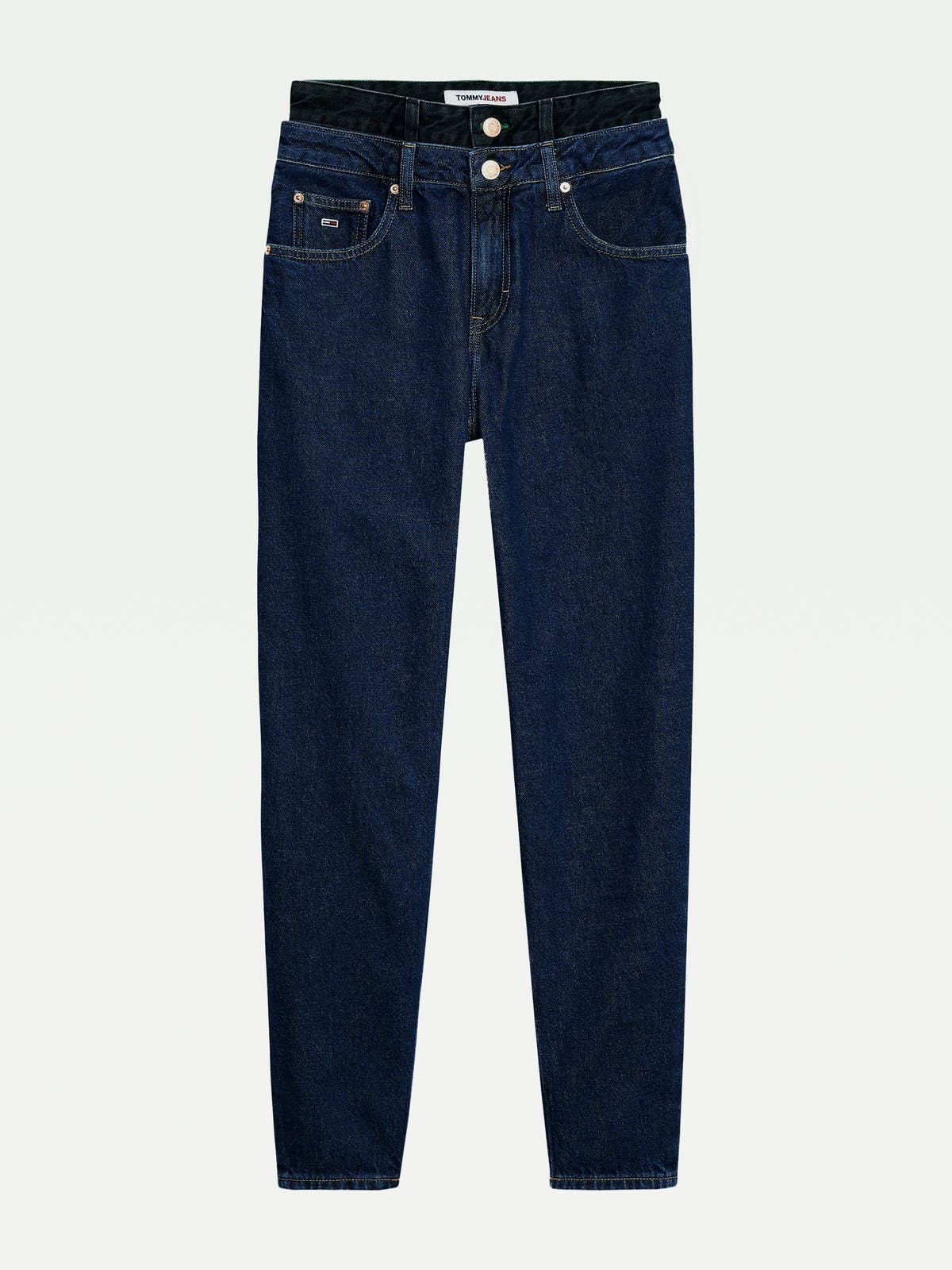 Recycled High Rise Tapered Mom Jeans