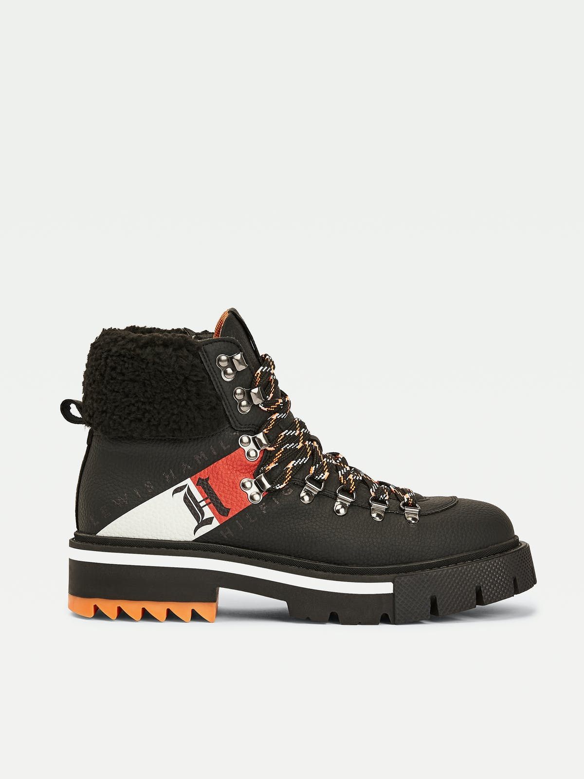 Lewis Hamilton Shearling Chunky Boots