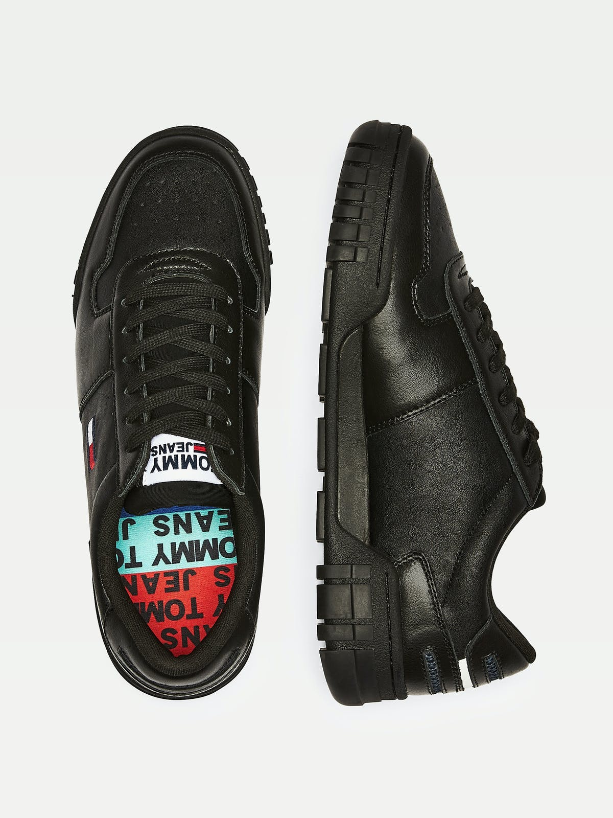 RETRO LACE-UP LEATHER TRAINERS