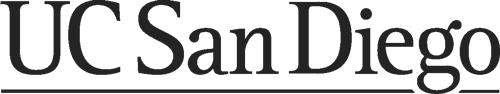 University of California San Diego logo in grey on a white background. Virbela Customer