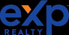 Exp Realty logo in Navy on a white background. Virbela Customer Testimonial