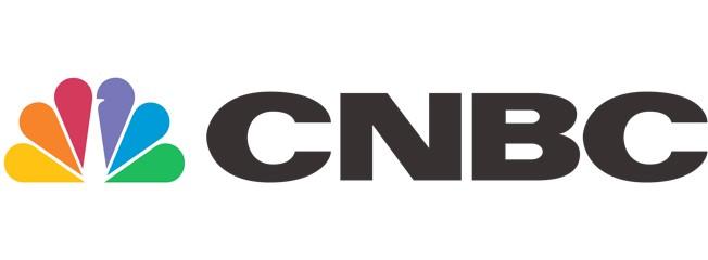 CNBC Logo on a white background. Virbela Customer