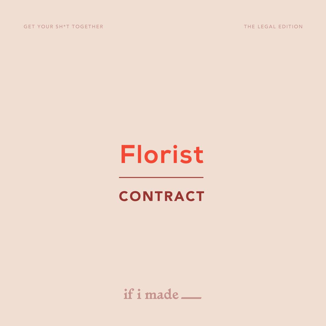 Florist Contract