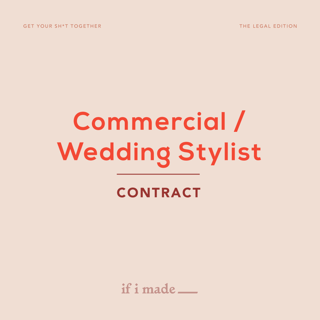 Commercial/Wedding Stylist Contract