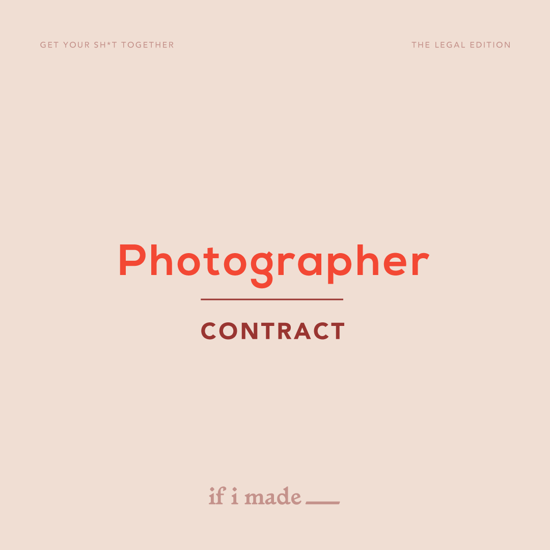Photographer Contract