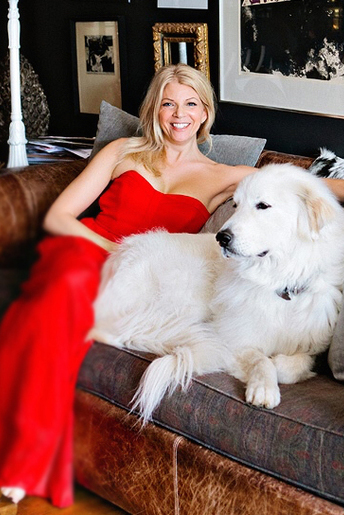 Christina Pippen with dog