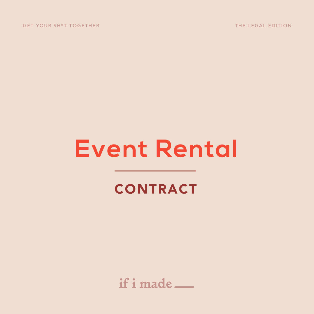 Event Rental Contract