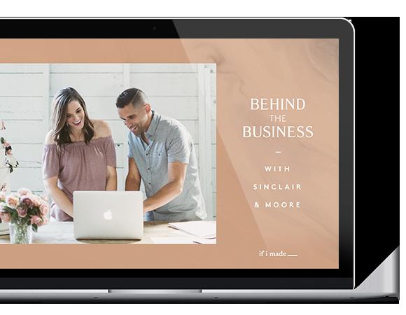 online course - wedding business