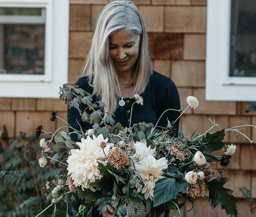 Successful floral small business owner