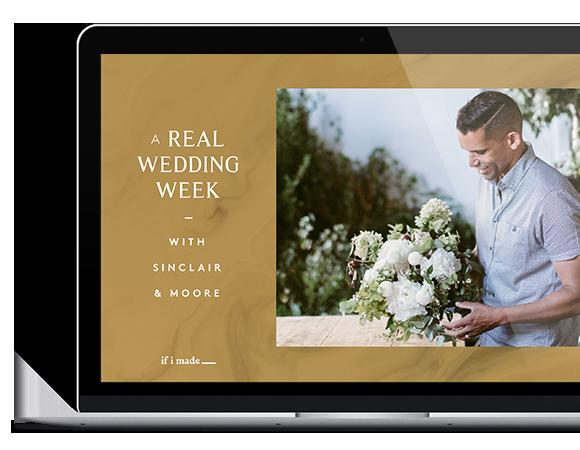Online course - wedding flowers