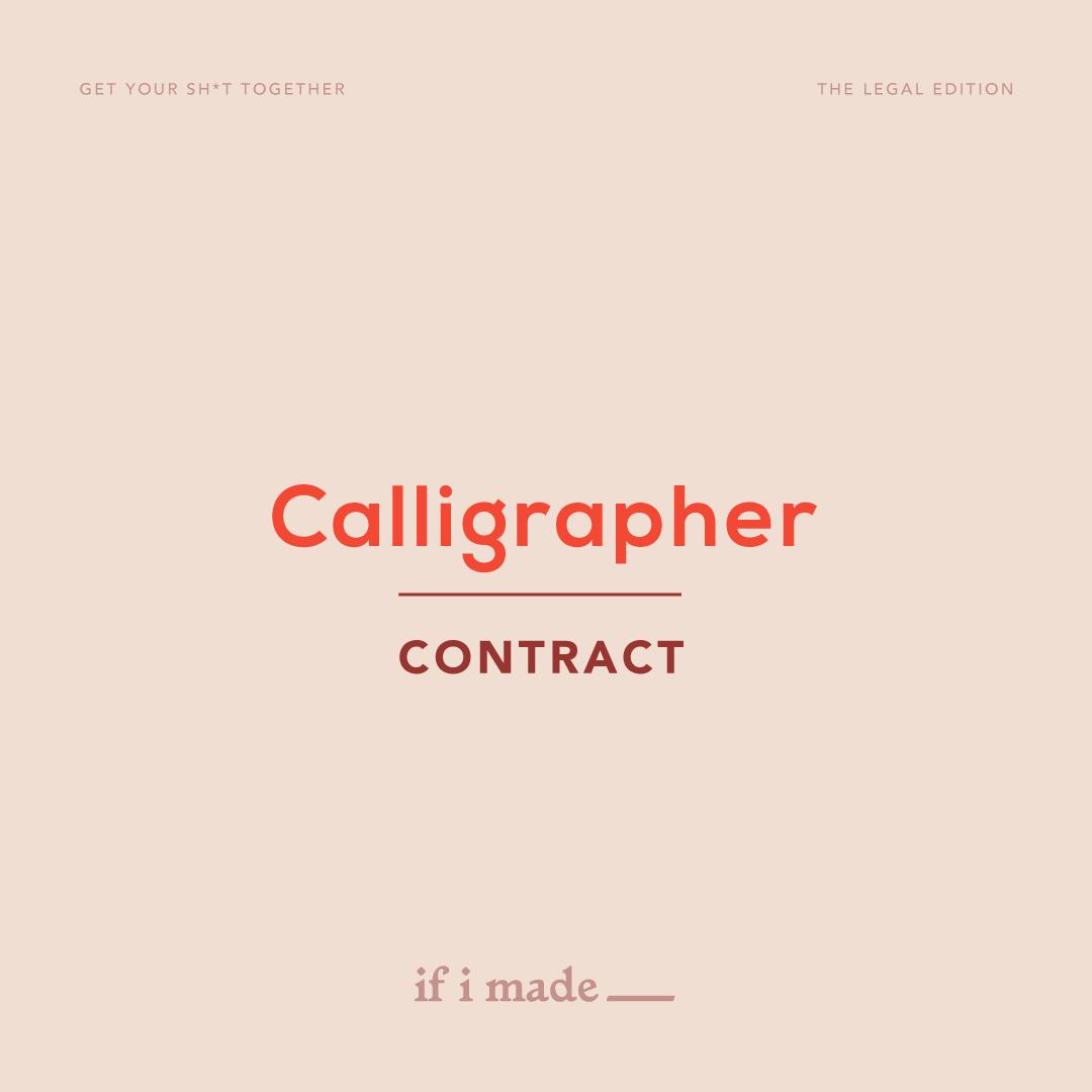 Calligrapher Contract