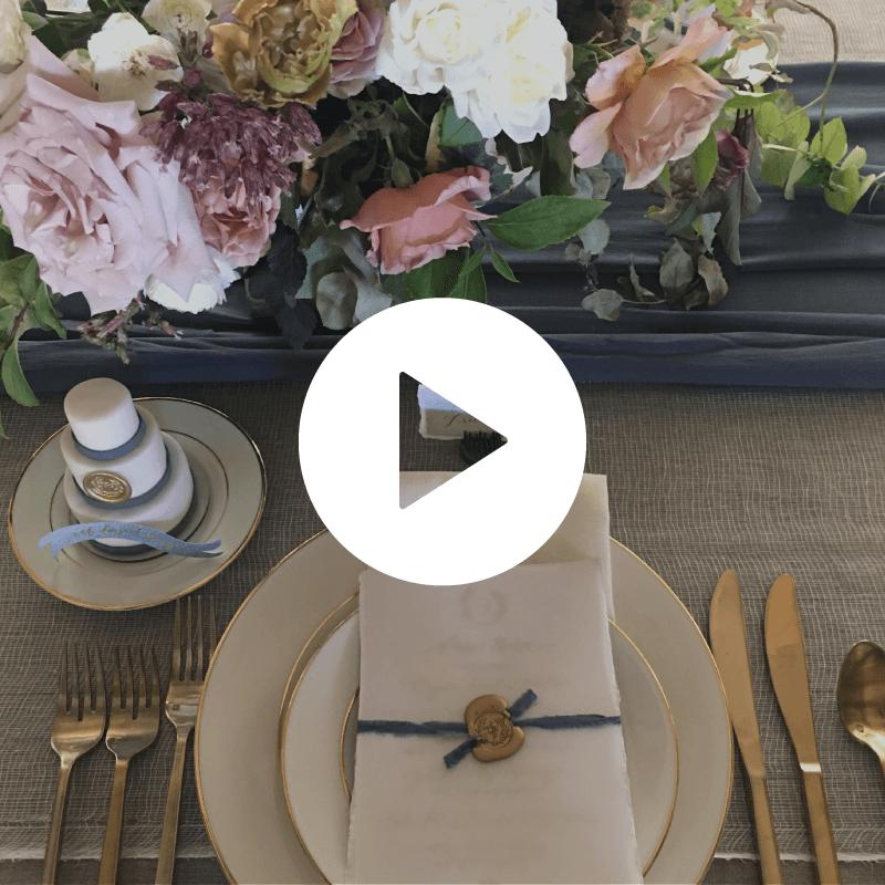 Details of a wedding reception