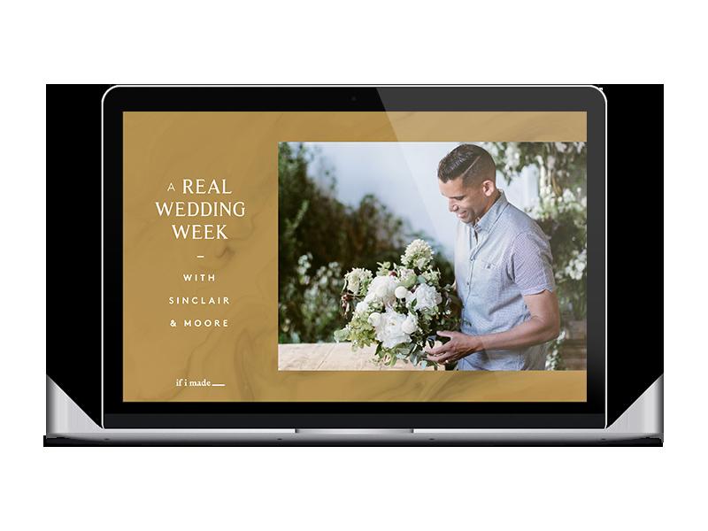 video wedding course