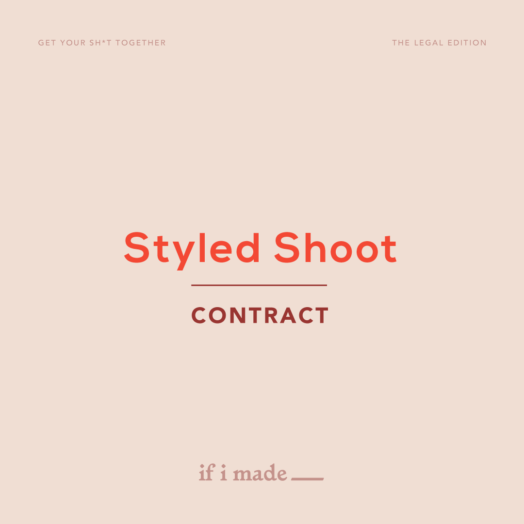 Styled Shoot Contract