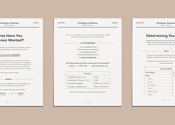 Pricing for Creatives Worksheets