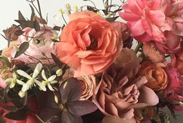 A close up image of a flower arrangement