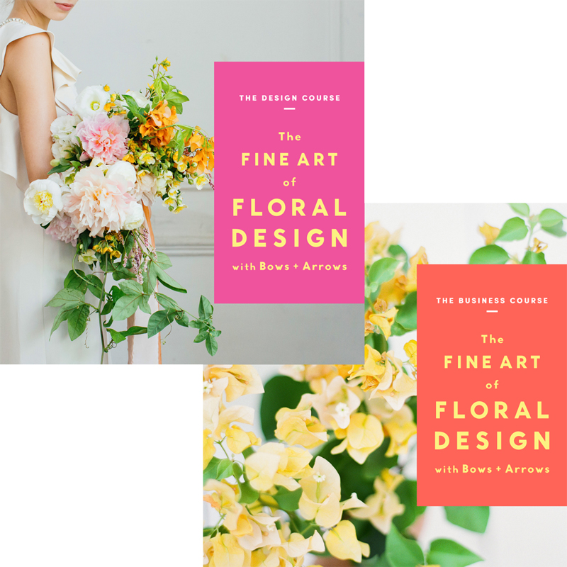 The Fine Art of Floral Design with Bows + Arrows Combo:
