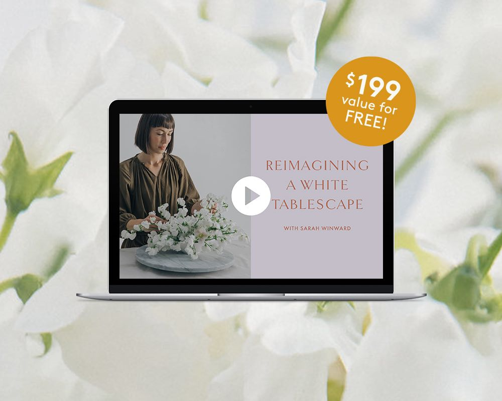 Buy Within the Next 30 Minutes to Get the Reimagining a White Tablescape Bonus Video