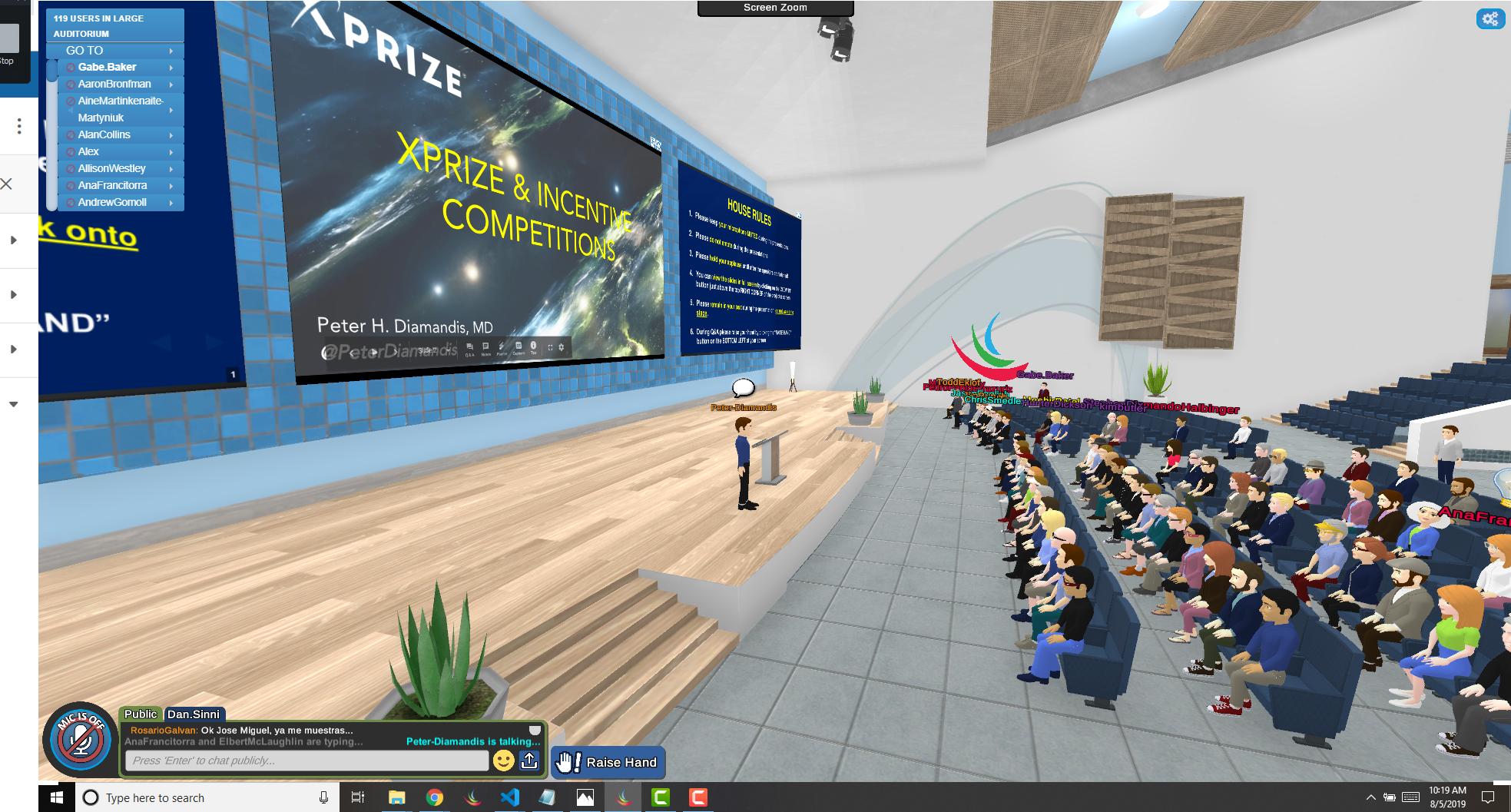 Peter Diamandis Hosts Gathering of Innovators in VirBELA