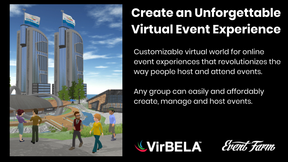 VirBELA Joins Forces with Event Farm to Offer Virtual Events