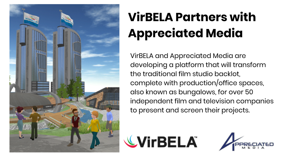 VirBELA Joins Forces With Appreciated Media to Build Virtual Film Studio
