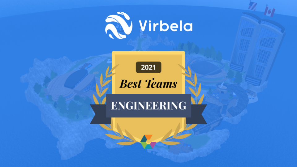 "Virbela Wins Comparably Award for ""Best Engineering Team"""