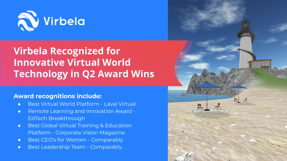 Virbela Recognized for Its Innovative Virtual World Technology in Q2 Award Wins