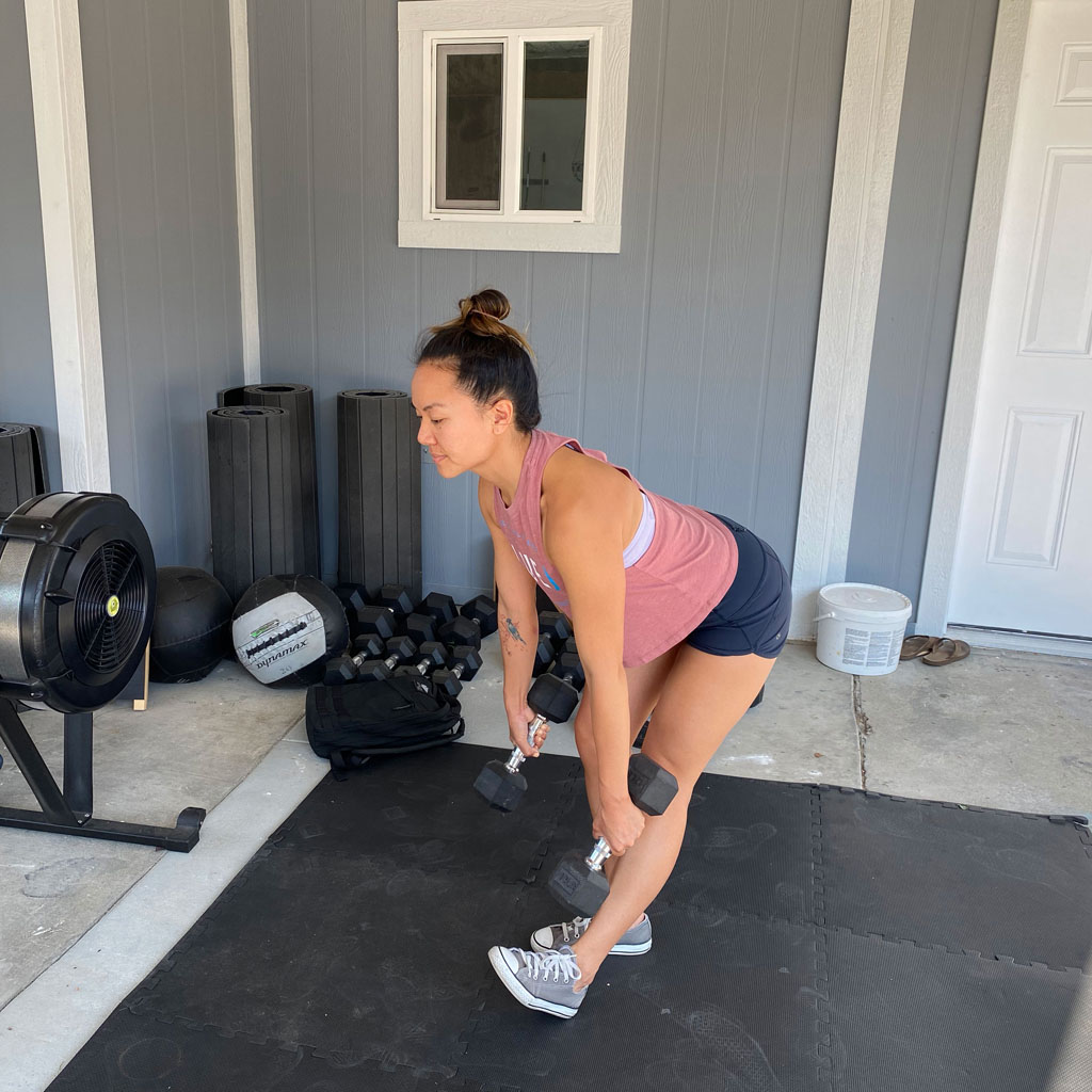 Staggered-Stance Deadlift