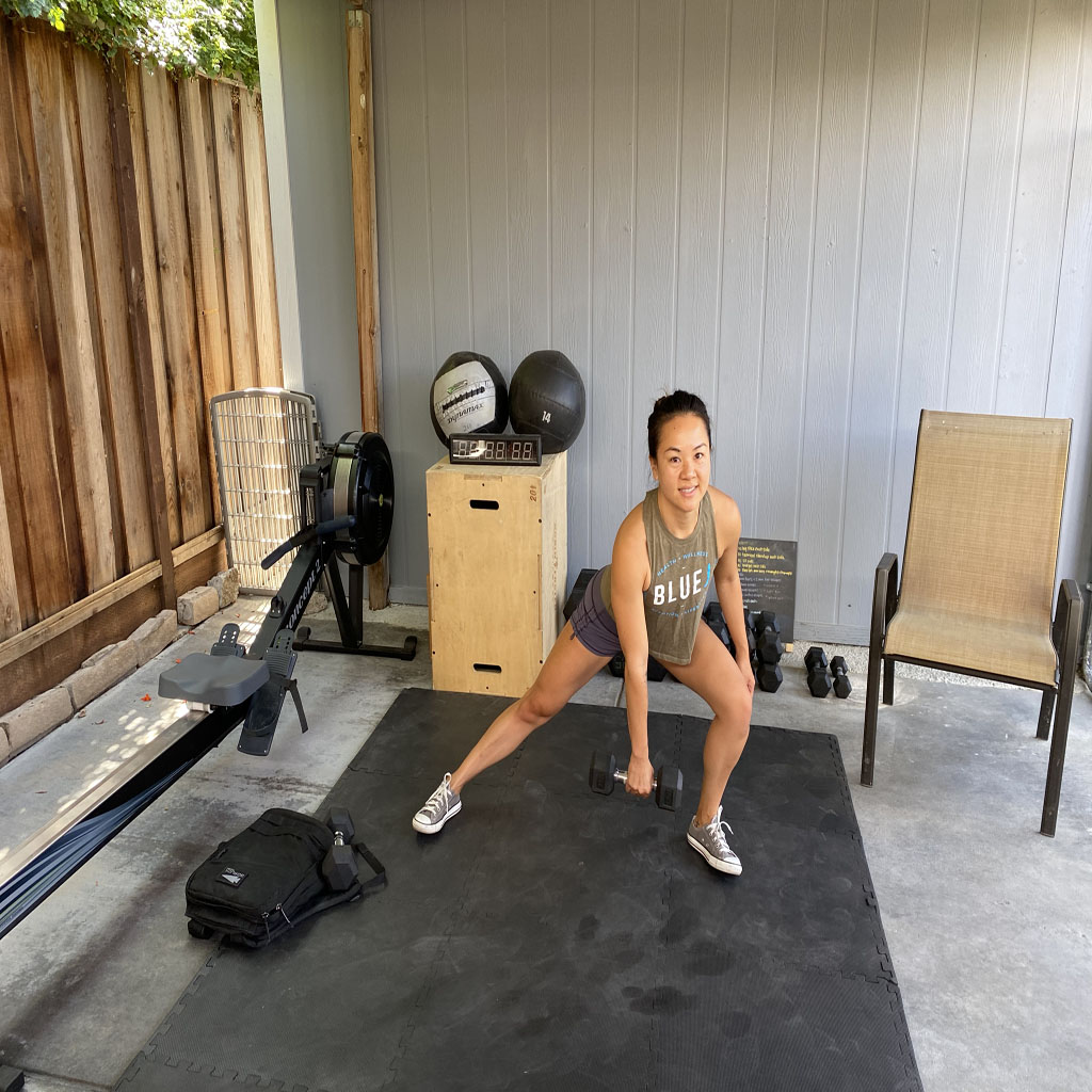 Lateral Lunge to High-Pull